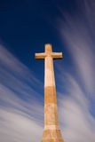 Christian cross. A large Christian cross on the background of a dreamy sky Stock Photos