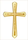 Christian Cross. Isolated on the white background Royalty Free Stock Photography