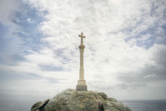 Christian Cross. Against the sea and the sky royalty free stock photography