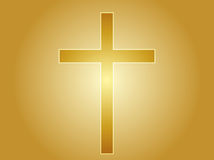 Christian cross. Christian church cross, religious spiritual symbol illustration Stock Photos