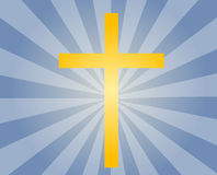 Christian cross. Christian church cross, religious spiritual symbol illustration Stock Photo