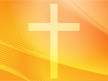 Christian cross. Christian church cross, religious spiritual symbol illustration Royalty Free Stock Photo