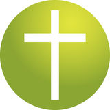Christian cross. Christian church cross, religious spiritual symbol illustration Royalty Free Stock Image