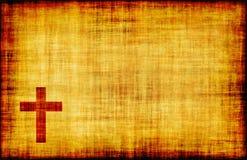Christian Cross. Bible Poster Design as Abstract Stock Photo