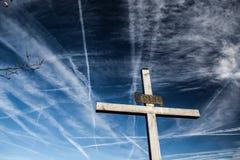 Christian Cross Against the Sky Stock Photography