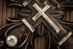 Christian Cross antico Fotografie Stock