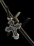 Christian cross on a barbed wire Royalty Free Stock Image