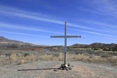 Christian Cross and blue sky Stock Photos