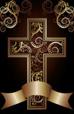 Christian cross card Stock Images