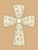 Christian Cross with decorations Royalty Free Stock Photography