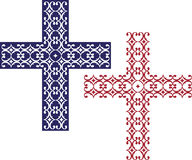 Christian Cross Design Royalty-vrije Stock Afbeelding