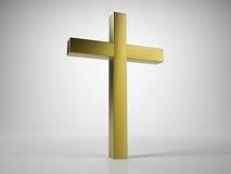 Christian Cross dorato Fotografie Stock Libere da Diritti