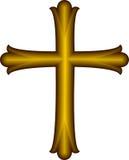 Christian Cross dorato Fotografia Stock Libera da Diritti