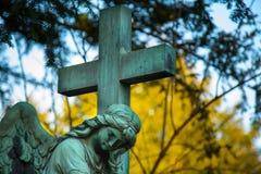 Christian cross at Easter Stock Photos