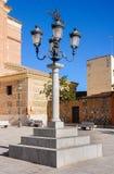 Christian Cross in een vierkant van Illescas, Toledo & x28; Spain& x29; Royalty-vrije Stock Foto