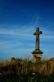 Christian cross. In fields in Czech republic Stock Image