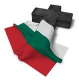 Christian cross and flag of bulgaria Stock Photos