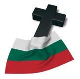 Christian cross and flag of bulgaria Royalty Free Stock Photo