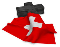 Christian cross and flag of switzerland Royalty Free Stock Images