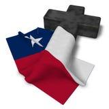 Christian cross and flag of texas Royalty Free Stock Photos