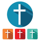 Christian cross flat icon design Royalty Free Stock Photo