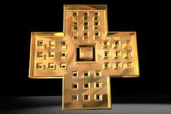 Christian Cross in Gold royalty free illustration