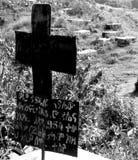 Christian cross grave Royalty Free Stock Photo