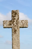 Christian Cross grave stone Royalty Free Stock Photos