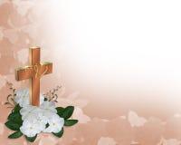 christian cross invitation wedding Стоковая Фотография