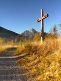 Christian Cross in Landscape Stock Photography