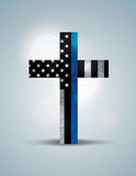 Christian Cross Law Enforcement Support Symbol Stock Images