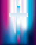Christian cross light Royalty Free Stock Image