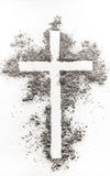 Christian cross made of ash Stock Photography