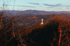Christian cross monument Royalty Free Stock Photography