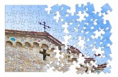 Free Christian Cross Of A Medieval Italian Church Royalty Free Stock Photo - 132711935