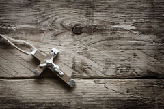 Christian cross on old boards Royalty Free Stock Images