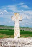 Christian cross in Old Orhei, Moldova Stock Photography