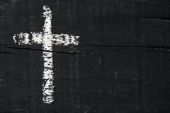 Free Christian Cross On A Dark Gray Wooden Surface Royalty Free Stock Photo - 143603505