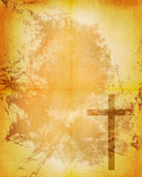 Christian cross on paper background Stock Image