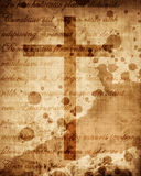 Christian cross on paper background Royalty Free Stock Photo