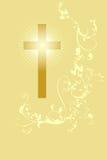 Christian cross and plant 23 stock illustration