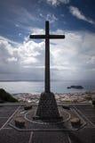 Christian Cross Portigal Azores Sao Miguel Stock Photo