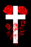 Christian cross and rose  4 Royalty Free Stock Photo