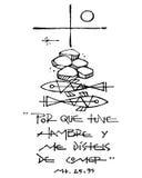Christian Cross, símbolos e frase Foto de Stock