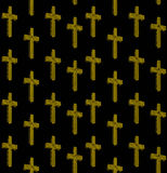 Christian Cross Seamless Pattern Design au néon Photographie stock libre de droits
