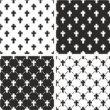 Christian Cross Seamless Pattern Set Fotografie Stock Libere da Diritti