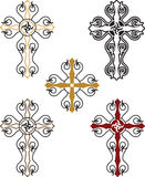 Christian Cross Set Royalty-vrije Stock Foto