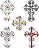 Christian Cross Set Foto de archivo libre de regalías