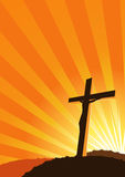 Christian Cross silhouette Stock Images