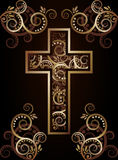 Christian cross silhouette Royalty Free Stock Photos